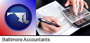 Baltimore, Maryland - an accountant at work