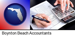Boynton Beach, Florida - an accountant at work