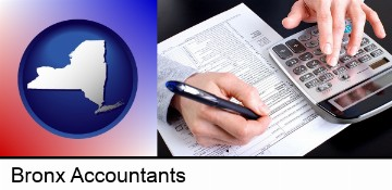an accountant at work in Bronx, NY