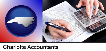 an accountant at work in Charlotte, NC