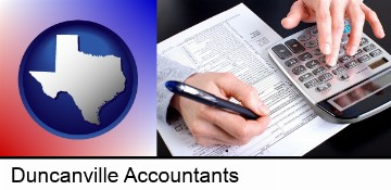 an accountant at work in Duncanville, TX
