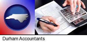 an accountant at work in Durham, NC