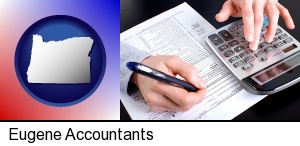 Eugene, Oregon - an accountant at work