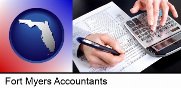 an accountant at work in Fort Myers, FL