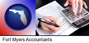 Fort Myers, Florida - an accountant at work