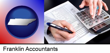an accountant at work in Franklin, TN