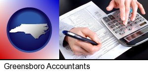 an accountant at work in Greensboro, NC