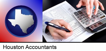 an accountant at work in Houston, TX