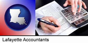 an accountant at work in Lafayette, LA