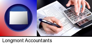 Longmont, Colorado - an accountant at work