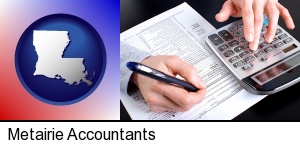 an accountant at work in Metairie, LA