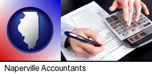 an accountant at work in Naperville, IL