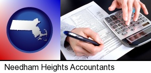 an accountant at work in Needham Heights, MA