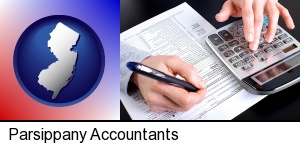 an accountant at work in Parsippany, NJ