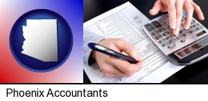 an accountant at work in Phoenix, AZ