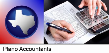 an accountant at work in Plano, TX
