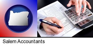 an accountant at work in Salem, OR