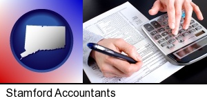 Stamford, Connecticut - an accountant at work